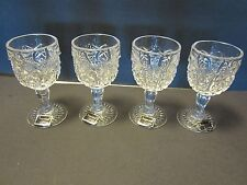 """Imperial Crystal glass wine cordials Goblets set of 4 LENOX 4"""" tall"""