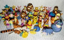 Vintage Disney WINNIE POOH Figures 34 Toys Tigger Piglet Owl Eeyore Roo Cake Kid