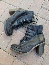 Zigi Soho Women's Black Combat Boots, Size 10 Blake