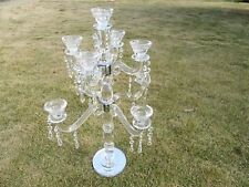 1X 9-Heads Tall Crystal Candle Holder Candelabra 59cm High