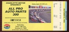 Ticket Nascar 1993 Charlotte 10/9 Auto Parts 300