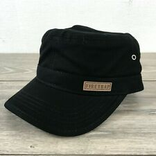 Firetrap Army Military Hat Mens Cap Adjustable 100% COTTON Coal T333