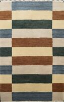 Modern Striped Gabbeh Oriental Area Rug Wool Hand-knotted Home Decor 2x3 Carpet