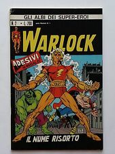 Gli Albi dei Super Eroi (ase)  n 2 Warlock con adesivi -ed Corno ottimo