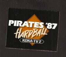 Pittsburgh Pirates--1987 Pocket Schedule--KDKA