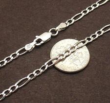 "Bracelet Anklet AntiTarnish Real 925 Silver 10"" Italian Solid Royal Figaro Ankle"
