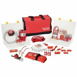 Master Lock 1458VE410, No. 1458 Lockout/Tagout Group Safety Kit - Fast Shipping!