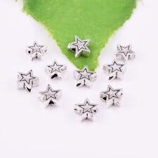 50pcs Metal Tibetan silver Star Loose Beads Metal Jewelry Findings 7mm