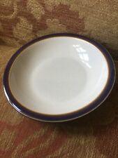 Denby Storm bowl - 21cm Rimmed Shallow Soup or pasta Bowl, Excellent Condition