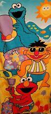 Sesame Street Beach Towel Elmo Cookie Monster Ernie Sand Castle Beach
