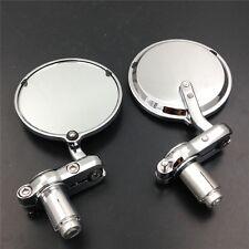 """7/8"""" Chrome Round Bar End mirror For Kawasaki Ninja ZX6R ZX10R ZX14R"""