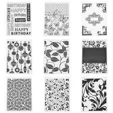 Scrapbooking Embossing Folder Prägeschablone Rahmen Happy Birthday Herz Blume xq