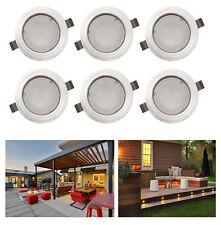 6er Set LED Warmesweiß Garten Außen Bodenleuchte LED Einbauspot Bodenstrahler