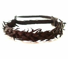 Genuine Leather Hand Intrecciato Bracciale Polsino BAND ORIGINALE MADE IN UK