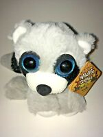"""RBI Wildlife Critters Racoon With Blue Eyes NEW 6"""" Plush Stuffed Animal"""