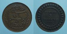 TUNISIA 5 CENTIMES AH 1326/1908 A PROTETTORATO FRANCESE bel BB