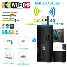 600Mbps Dual Band 2.4Ghz/5Ghz USB Network Wireless WiFi Adapter Dongle 802.11AC