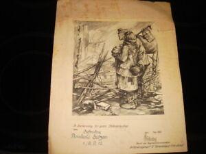 Anererkennungsurkunde - Stellungsbau - Artilleriergt.12 General Frhr. v. Fritsch