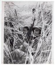 1950s French Indochina Soldier Fm 24/29 Light Machine Gun Original Wirephoto