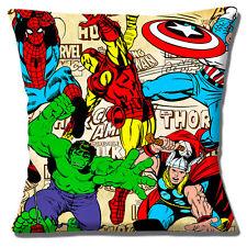 Captain Marvel Cushion Cover 16x16 inch 40cm Comic Book Film Heroes Hulk Thor