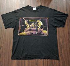 Vintage Nirvana Kurt Cobain M&O Knits T-shirt Large FROM THE MUDDY BANKS 1996