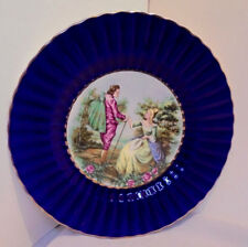 """Wade England Plate, Charger, Royal Victoria Pottery, Couple 10.5"""" Across Vintage"""