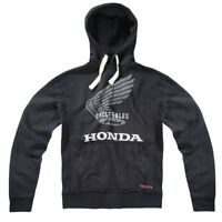 Honda Vintage Hoodie Black Cycle Sales Hooded Jumper NEW HON002VH4