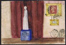 1875 Hand Painted Statue à Mlle toujours avec 1d rouge dans un or cadre Welwyn Bain