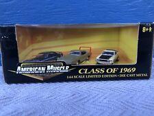 American Muscle Class of 1969 1:64 3-Car Set Cougar- Mustang- Daytona