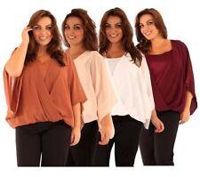 Plus Size Kimono Sleeve Casual Tops & Blouses for Women