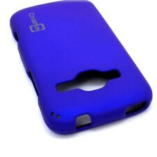 Blue Case For ZTE Concord 2 II Hard Rubberized Snap On Phone Cover