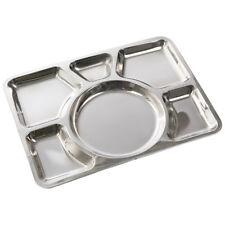 Mil-Tec Compartimento Seis Cantina Al Aire Libre Plato Alimentos Bandeja Acero I