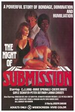 THE NIGHT OF SUBMISSION Movie POSTER 27x40 C.J. Laing Annie Sprinkle Cherly