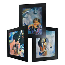 3 Dimension 3D Lenticular Picture Native American Tattoo Girl White Horse Wolf