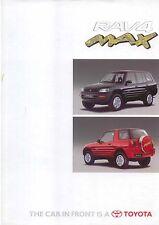 TOYOTA RAV4 MAX LIMITED EDITION 1996 ORIGINALE UK mercato opuscolo n. 90951