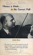Mischa ELMAN (Violinist): Autograph Signature on Program Portrait
