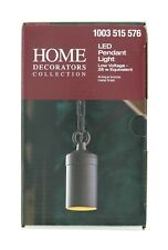 HDC LED Pendant Light Hanging Outdoor Antique Bronze Warm Light