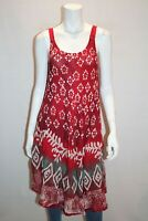Tropiko Brand BOHO Red Floral Sleeveless Dress FREE Size LIKE NEW #AN02