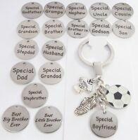Football KEYRING,Wedding favours ,Birthday gift, Christmas,Dad,Grandad,Son,uncle