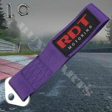 High Strength Racing Front Rear Bumper Tow Hook Towing Strap Universal Purple