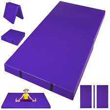"""3'x6'x4""""Fo lding Mat Thick Foam Fitness Exercise Gymnastic Panel Pad Workout Home"""