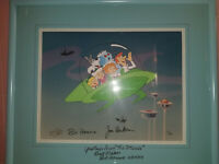 Rare Jetsons Hanna Barbera Limited Edition Cell Signed Cel and Mat