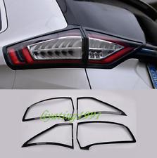 4PCS Carbon Fiber Rear Tail Light Lamp Cover Trim For Ford Edge 2015-2019