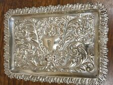 antique silver plate ornate dressing table TRAY