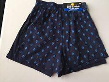 Joe Boxer Mens 2 pk Boxers Size S Navy & Royal Pattern & Solid Navy 100% Cotton