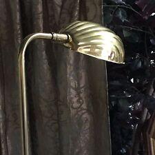 Vtg Mid Century Brass Swivel/Adjustable Floor Lamp Clam Shell Shade by ALSY USA