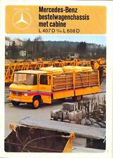 Mercedes-Benz LP407D-608D Dutch market 1978 sales brochure