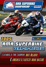 AMA 2005 SUPERBIKE DVD HONDA CBR SUZUKI GSXR KAWASAKI YAMAHA 750 600 1000 1100