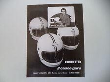 advertising Pubblicità 1977 CASCO BIEFFE X 5001 e PIER PAOLO BIANCHI
