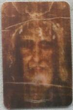 Shroud of Turin LENTICULAR Holy Card + Face of Jesus